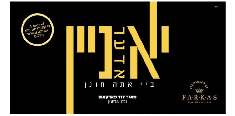 YouTube Thumbnail • Yes Or No At Ato Chonein • Meir Duvid Farkas • @MusicOnTime