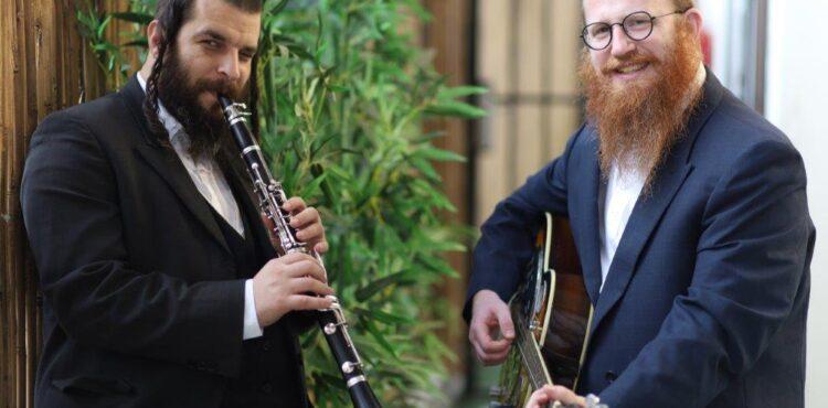 מרדכי רוט ודוד קליגר - צילום ראובן חיון